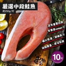 【築地一番鮮】嚴選鮭魚10片組(250g/片)免運