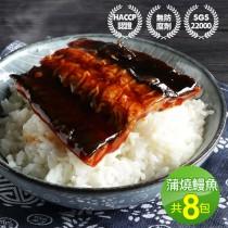 【築地一番鮮】外銷日本鮮嫩蒲燒鰻魚塊8包(150g/包)免運