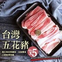 【築地一番鮮】台灣豬五花5包(300g/包)免運